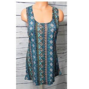Annabelle USA Printed Racerback Top Size: XL - NWT